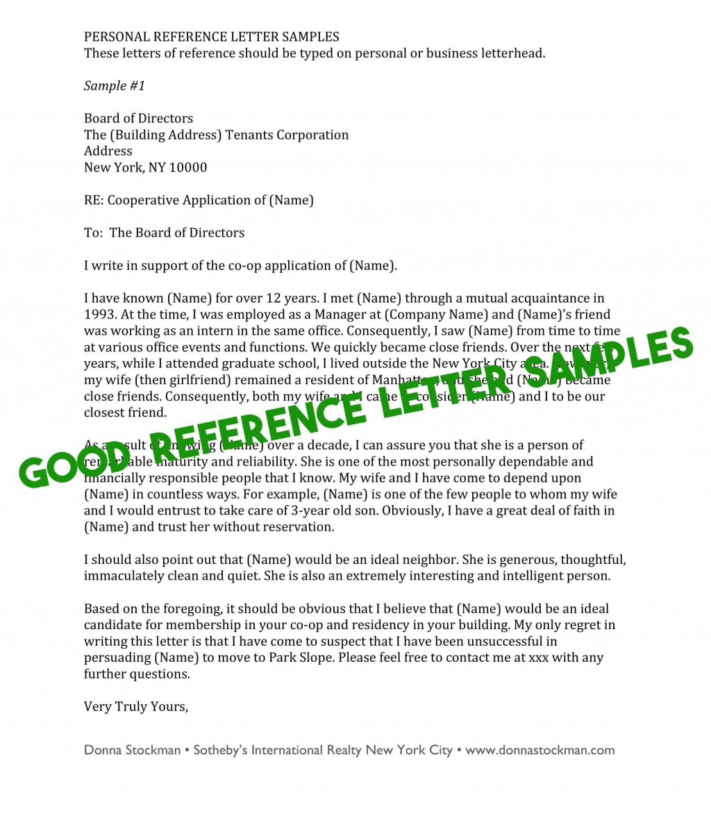 009 Phenomenal Free Reference Letter Template For Tenant Highest Quality Large