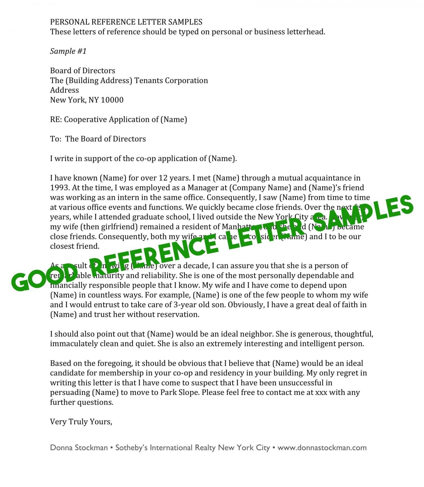 009 Phenomenal Free Reference Letter Template For Tenant Highest Quality 1400