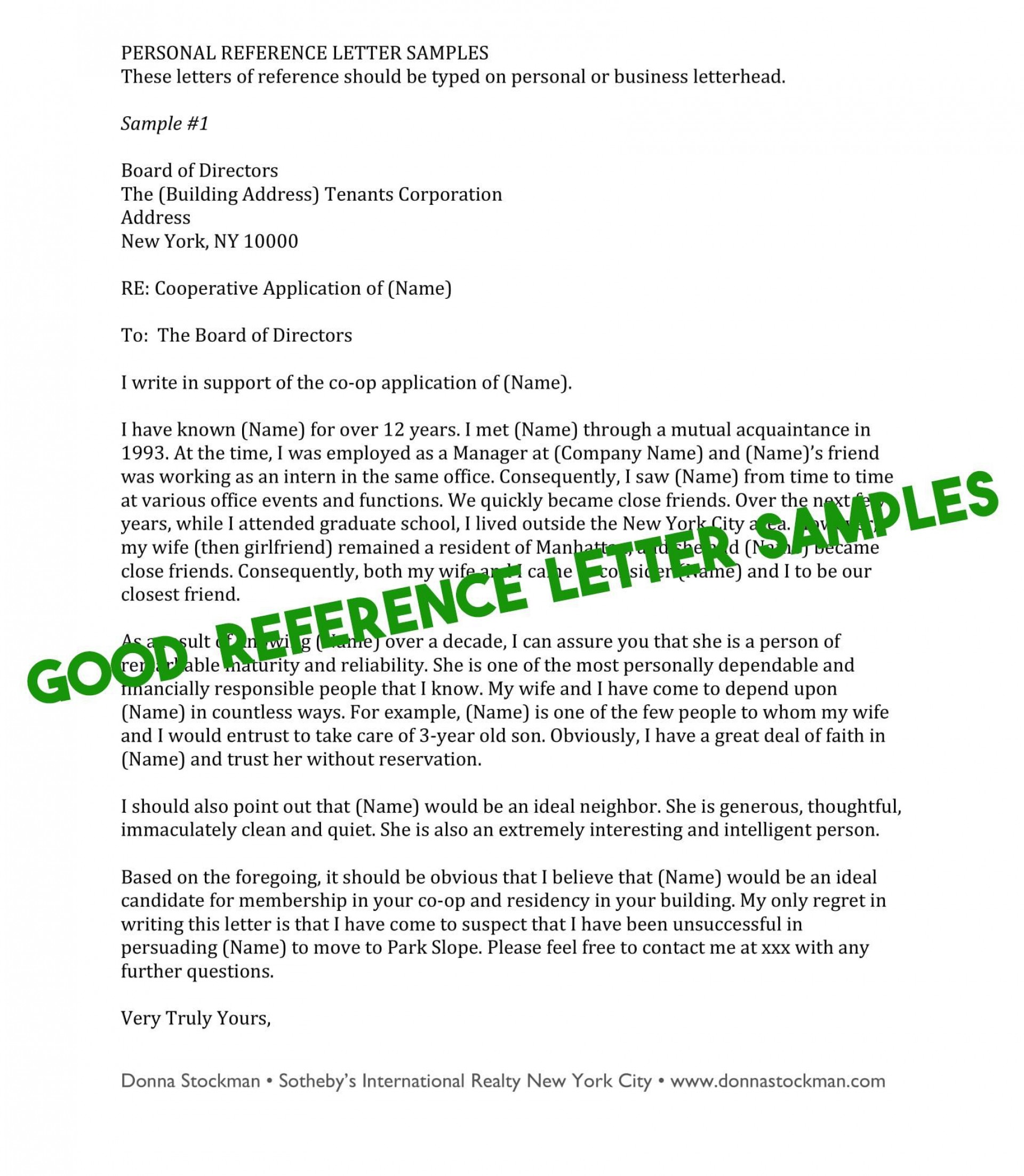 009 Phenomenal Free Reference Letter Template For Tenant Highest Quality 1920