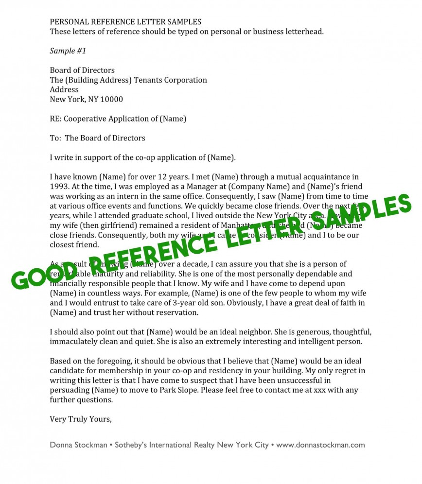 009 Phenomenal Free Reference Letter Template For Tenant Highest Quality 868