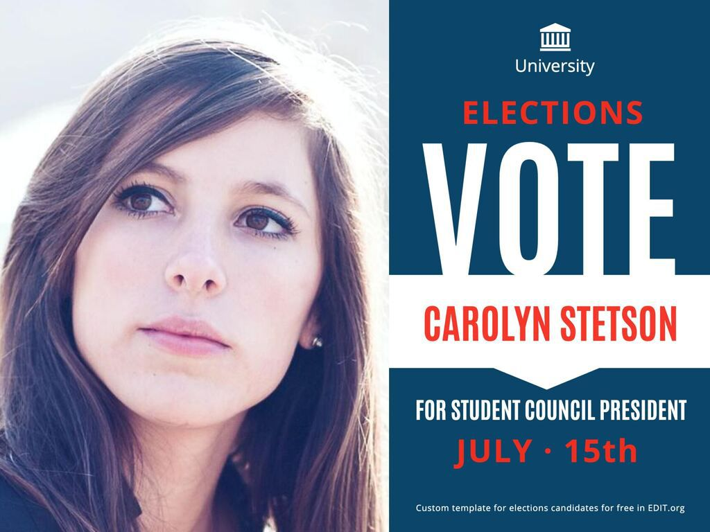 009 Phenomenal Free Student Council Campaign Poster Template Inspiration Full