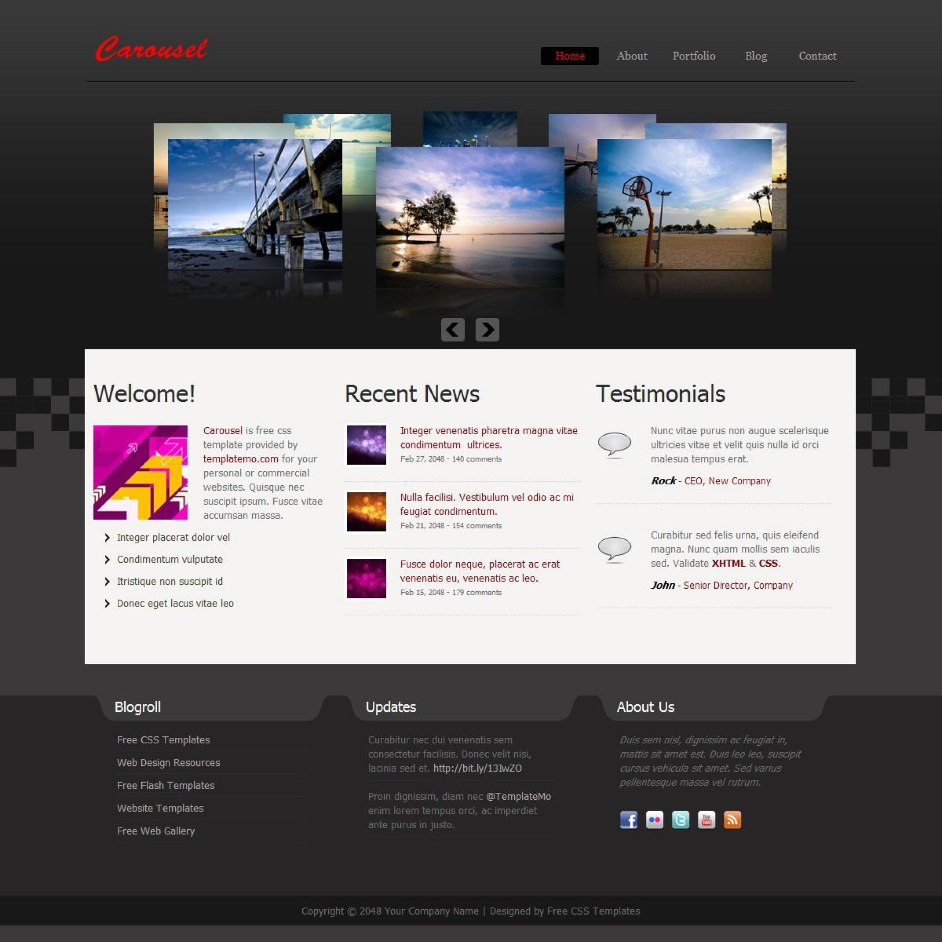 009 Phenomenal Free Website Template Download Html And Cs Jquery Slider High Def 1920