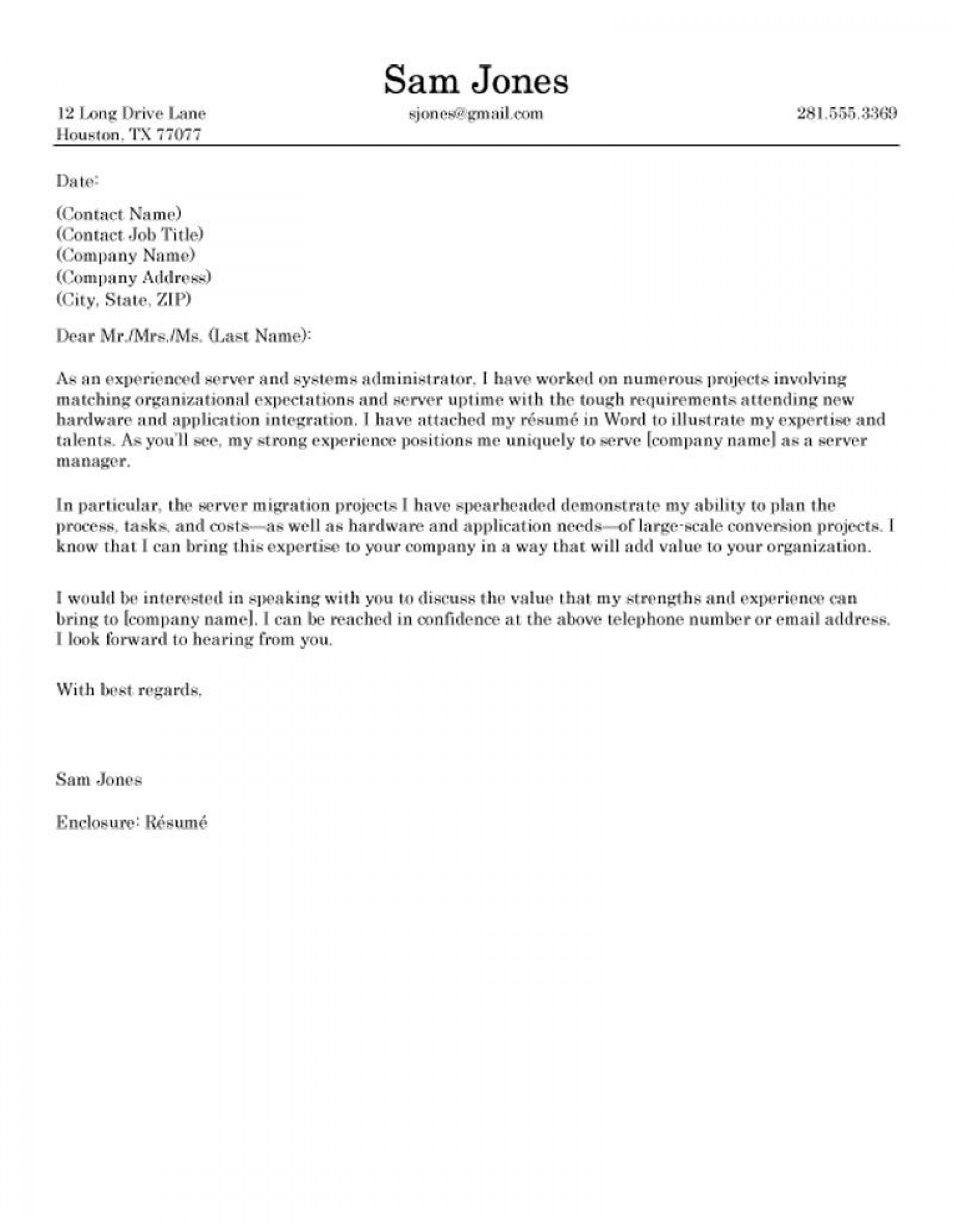 009 Phenomenal Good Cover Letter Example Download  Word1920
