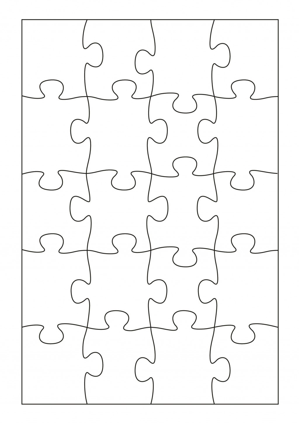 009 Phenomenal Jig Saw Puzzle Template Highest Quality  Printable Blank Jigsaw Vector Free PngLarge