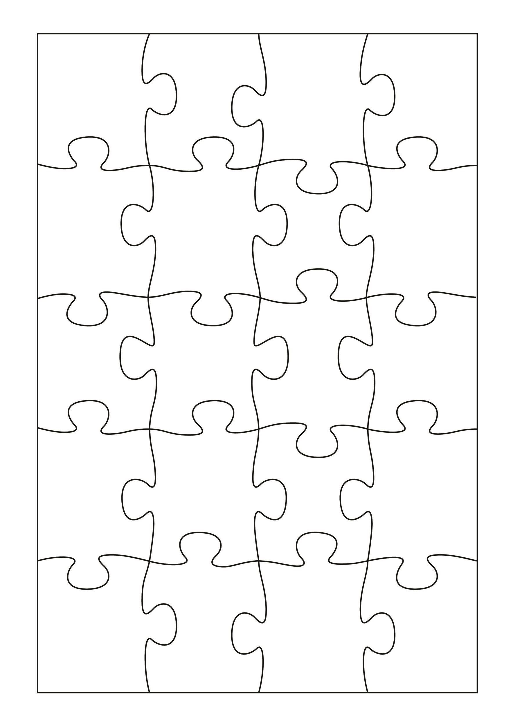 009 Phenomenal Jig Saw Puzzle Template Highest Quality  Printable Blank Jigsaw Vector Free PngFull