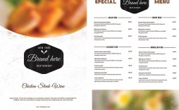 009 Phenomenal Menu Template Free Download For Restaurant Photo  Word Psd