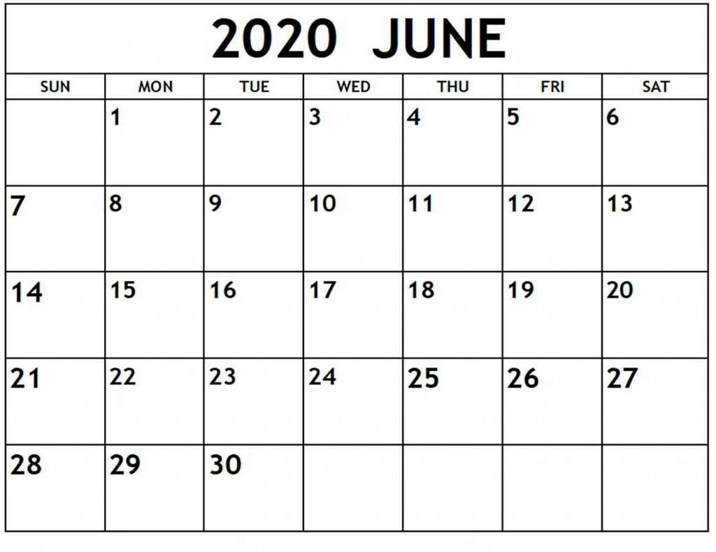 009 Phenomenal Printable Calendar Template June 2020 High Resolution  FreeLarge