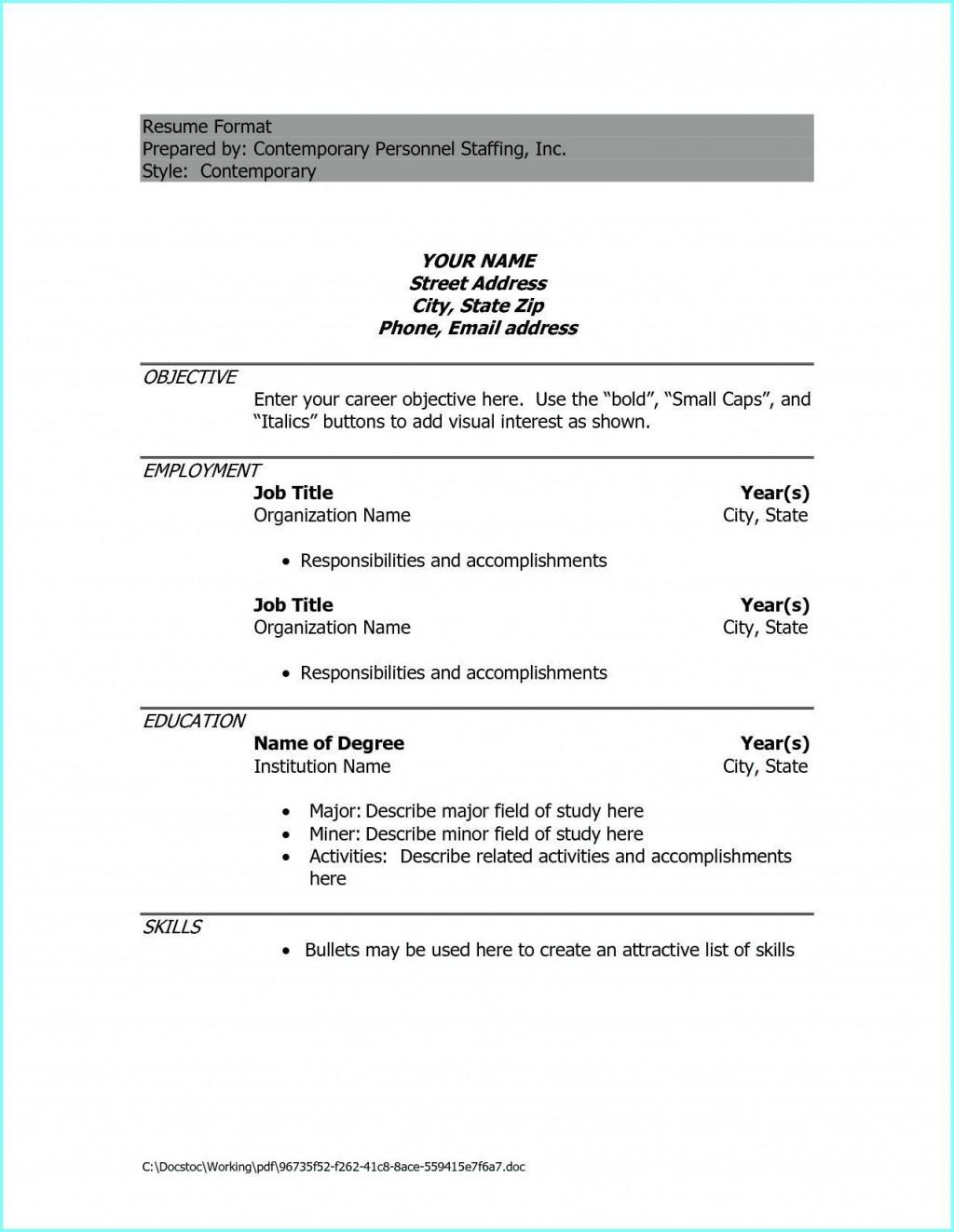 009 Phenomenal Resume Example Pdf Free Download Large