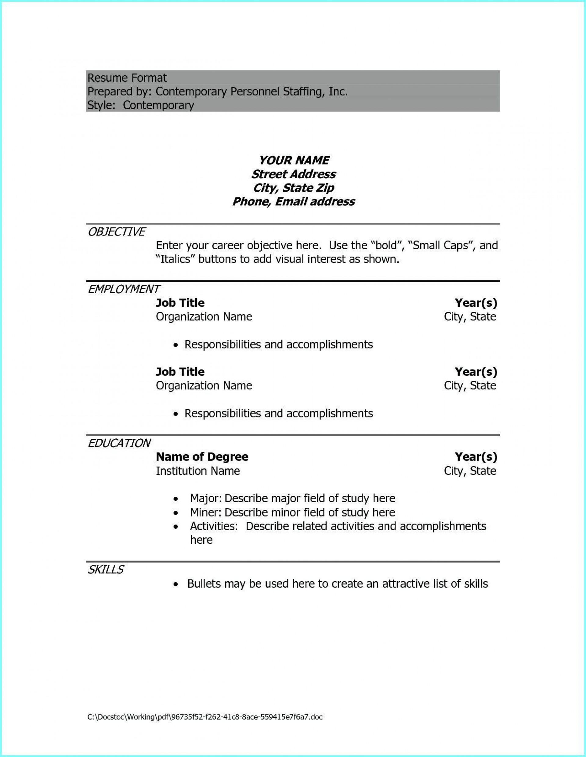 009 Phenomenal Resume Example Pdf Free Download 1920