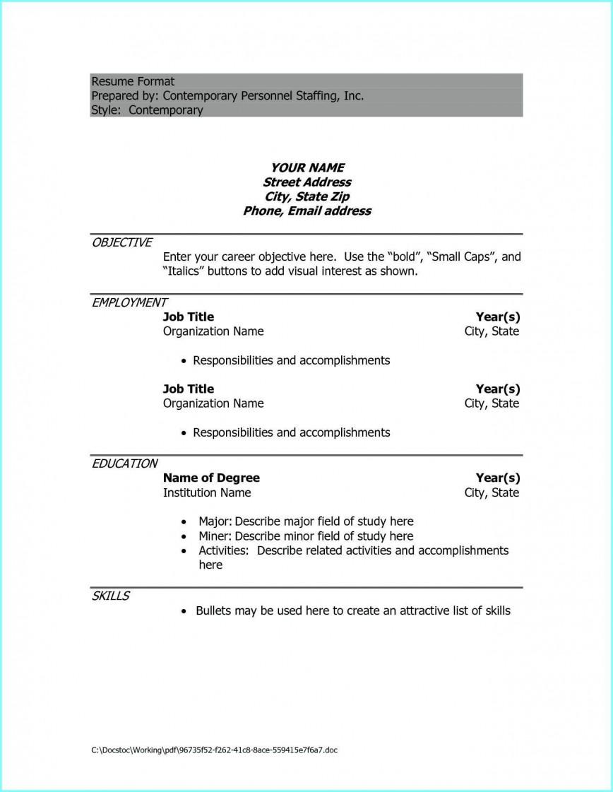009 Phenomenal Resume Example Pdf Free Download