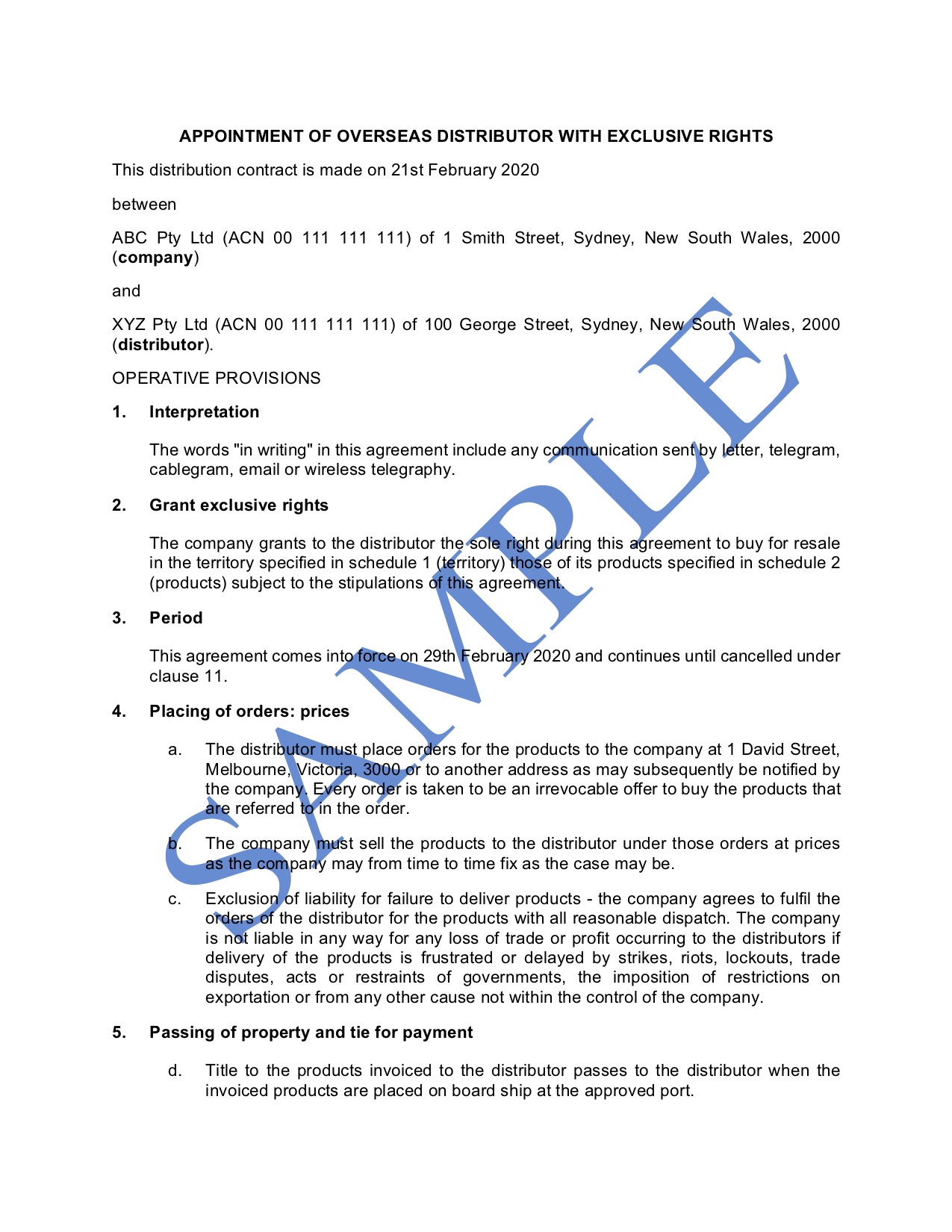 009 Phenomenal Sole Distribution Agreement Template Picture  Distributor Free Non ExclusiveFull