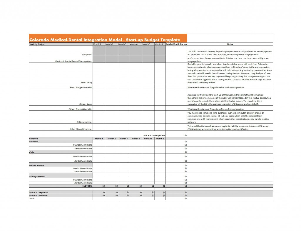 009 Phenomenal Start Up Budget Template Photo  Busines Pdf Free Startup Excel CapitalLarge