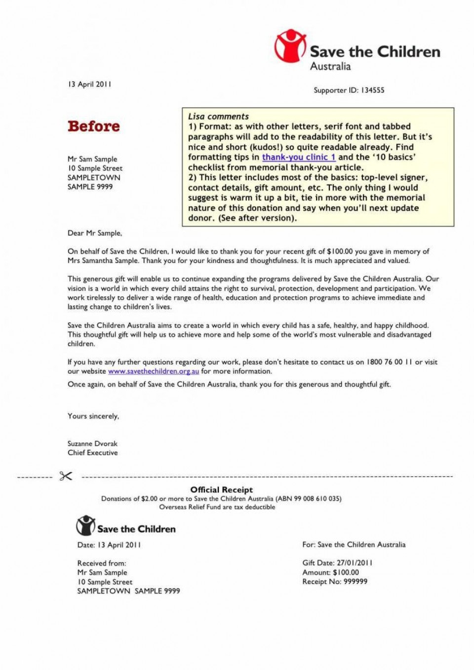 009 Phenomenal Tax Deductible Donation Receipt Template Australia Idea 960