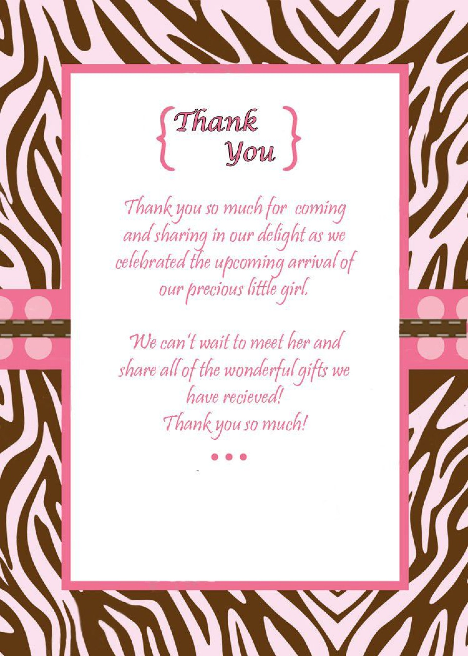 009 Phenomenal Thank You Note Template For Baby Shower Gift Highest Clarity  Card Letter Sample1920