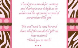 009 Phenomenal Thank You Note Template For Baby Shower Gift Highest Clarity  Card Letter Sample