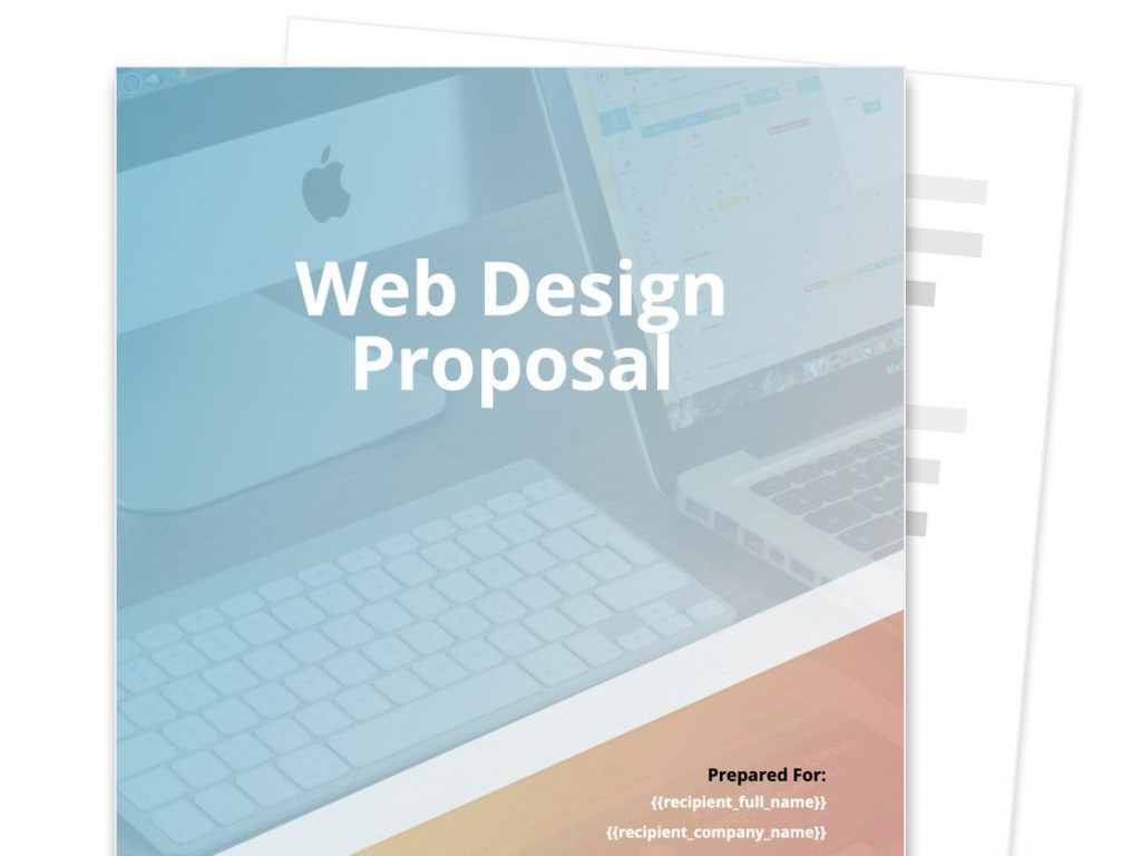 009 Phenomenal Web Design Proposal Template High Def  Designer Writing Word Document SimpleLarge