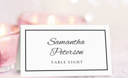 009 Phenomenal Wedding Name Card Template High Resolution  Table Free Place Escort