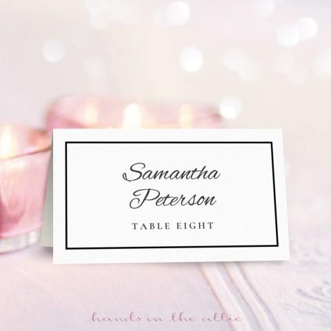 009 Phenomenal Wedding Name Card Template High Resolution  Free Download Design Sticker Format480