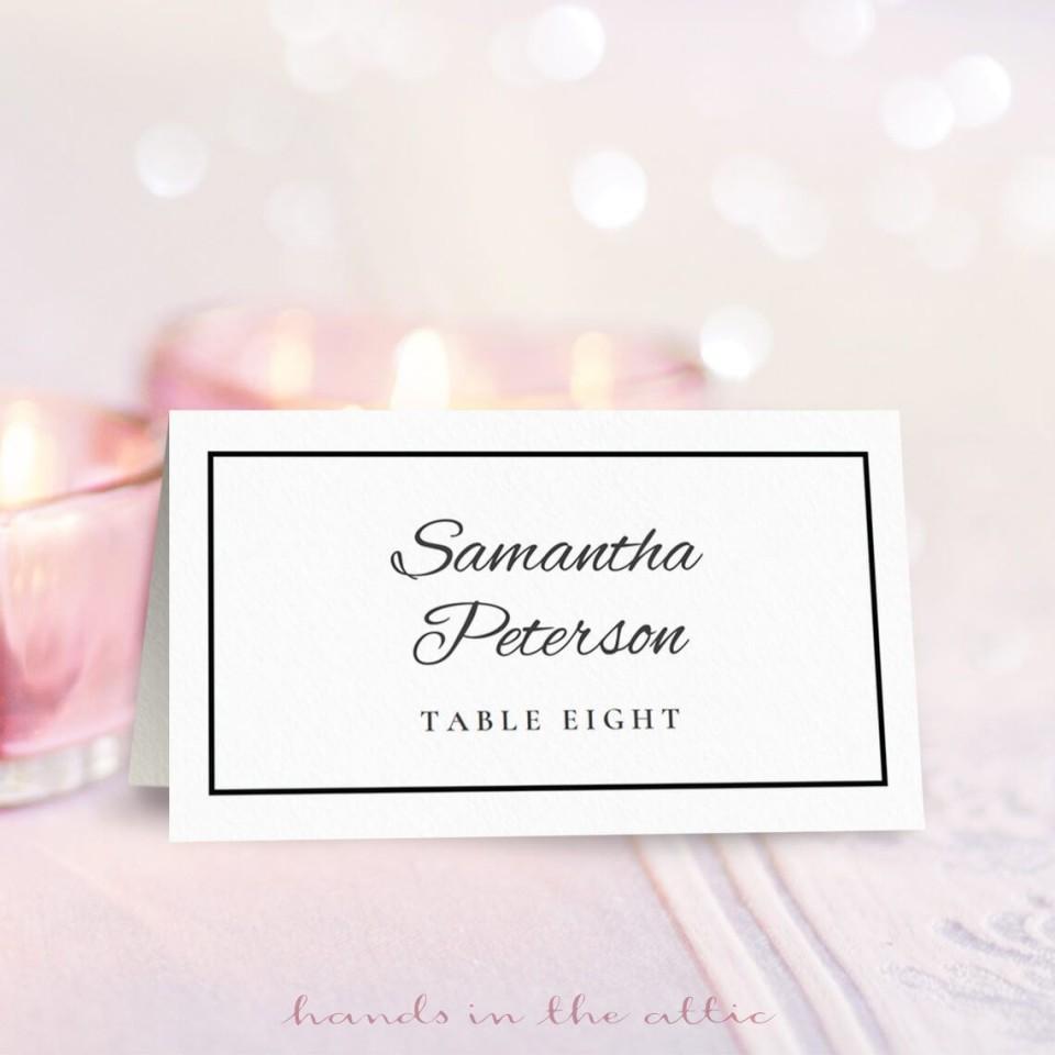 009 Phenomenal Wedding Name Card Template High Resolution  Free Download Design Sticker Format960