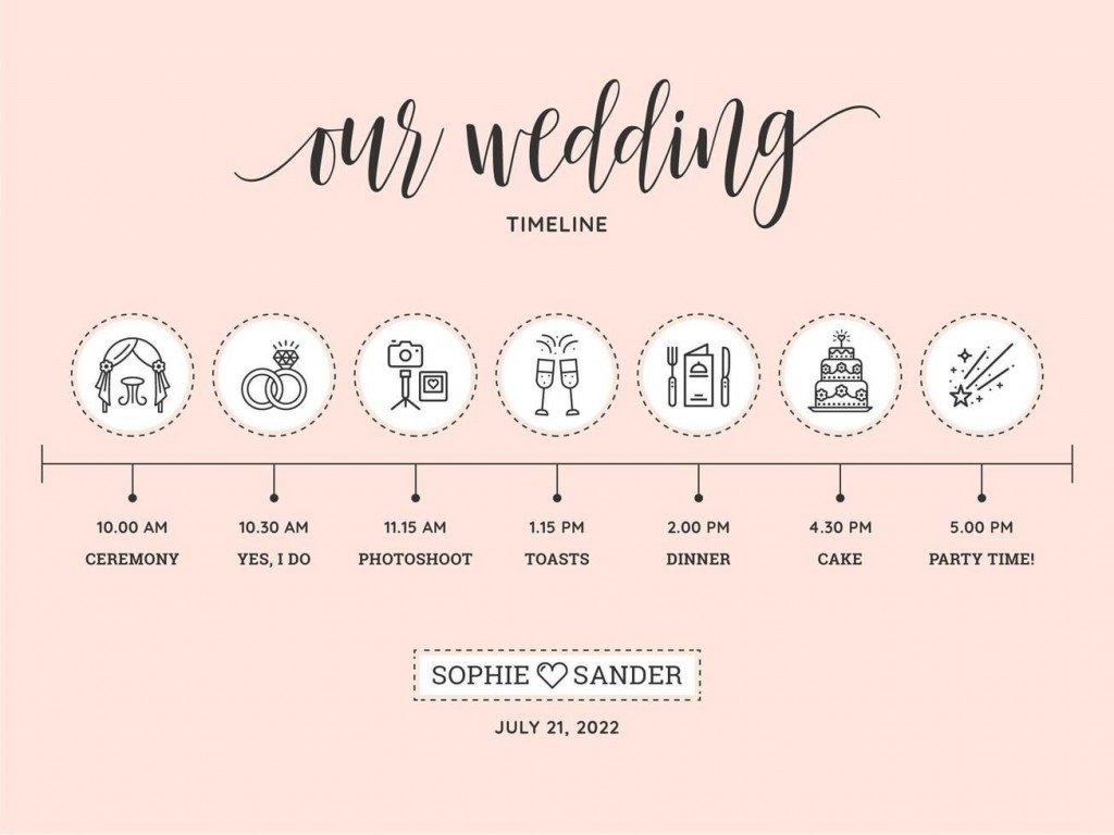 009 Phenomenal Wedding Timeline Template Free Download Concept Large