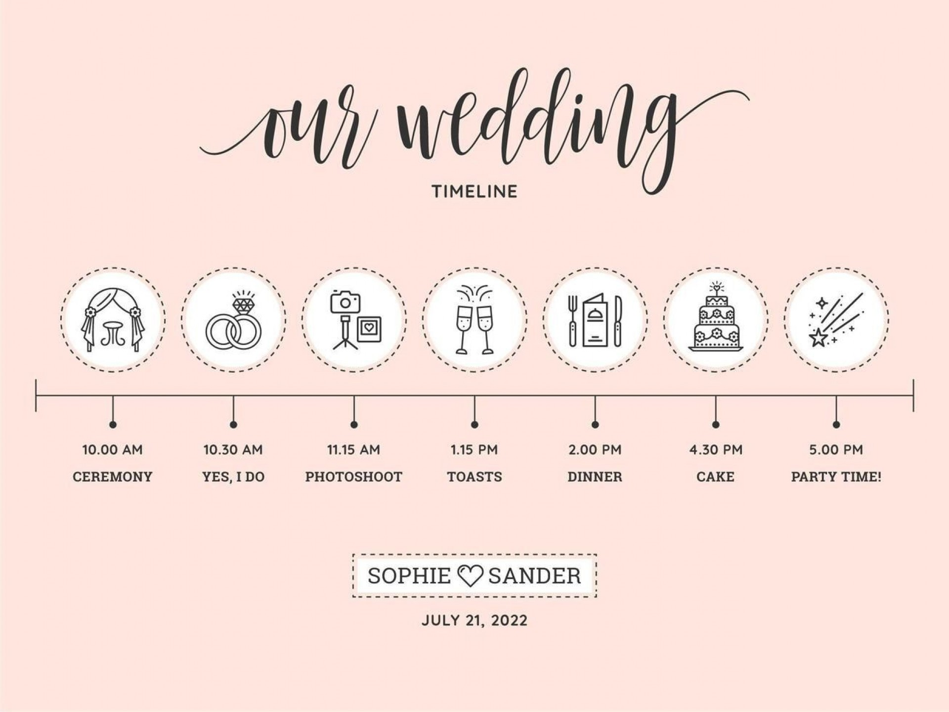 009 Phenomenal Wedding Timeline Template Free Download Concept 1920