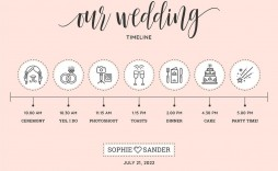 009 Phenomenal Wedding Timeline Template Free Download Concept