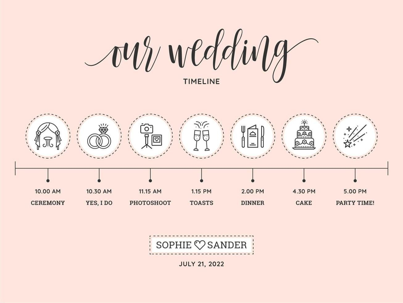 009 Phenomenal Wedding Timeline Template Free Download Concept Full
