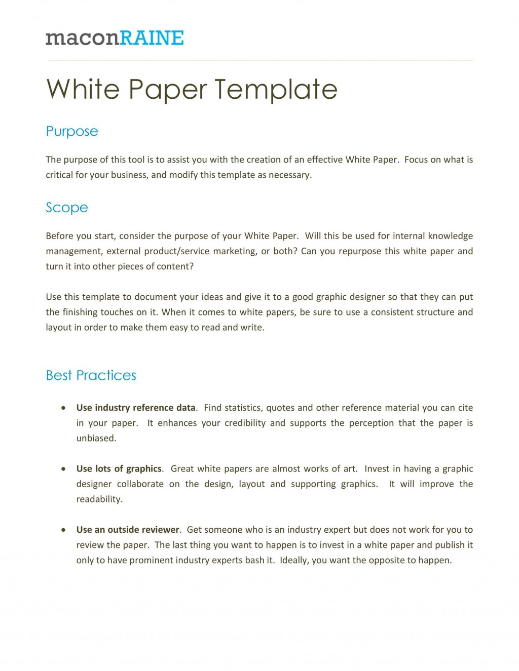 009 Phenomenal White Paper Outline Sample Picture Large