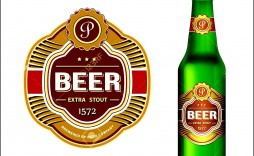 009 Rare Beer Bottle Label Template Word Highest Clarity  Free