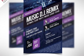 009 Rare Event Flyer Template Free Psd High Definition  Music Boxing