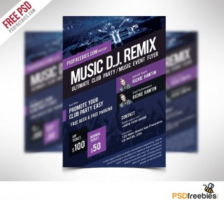 009 Rare Event Flyer Template Free Psd High Definition  Music Boxing320