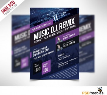 009 Rare Event Flyer Template Free Psd High Definition  Music Boxing360