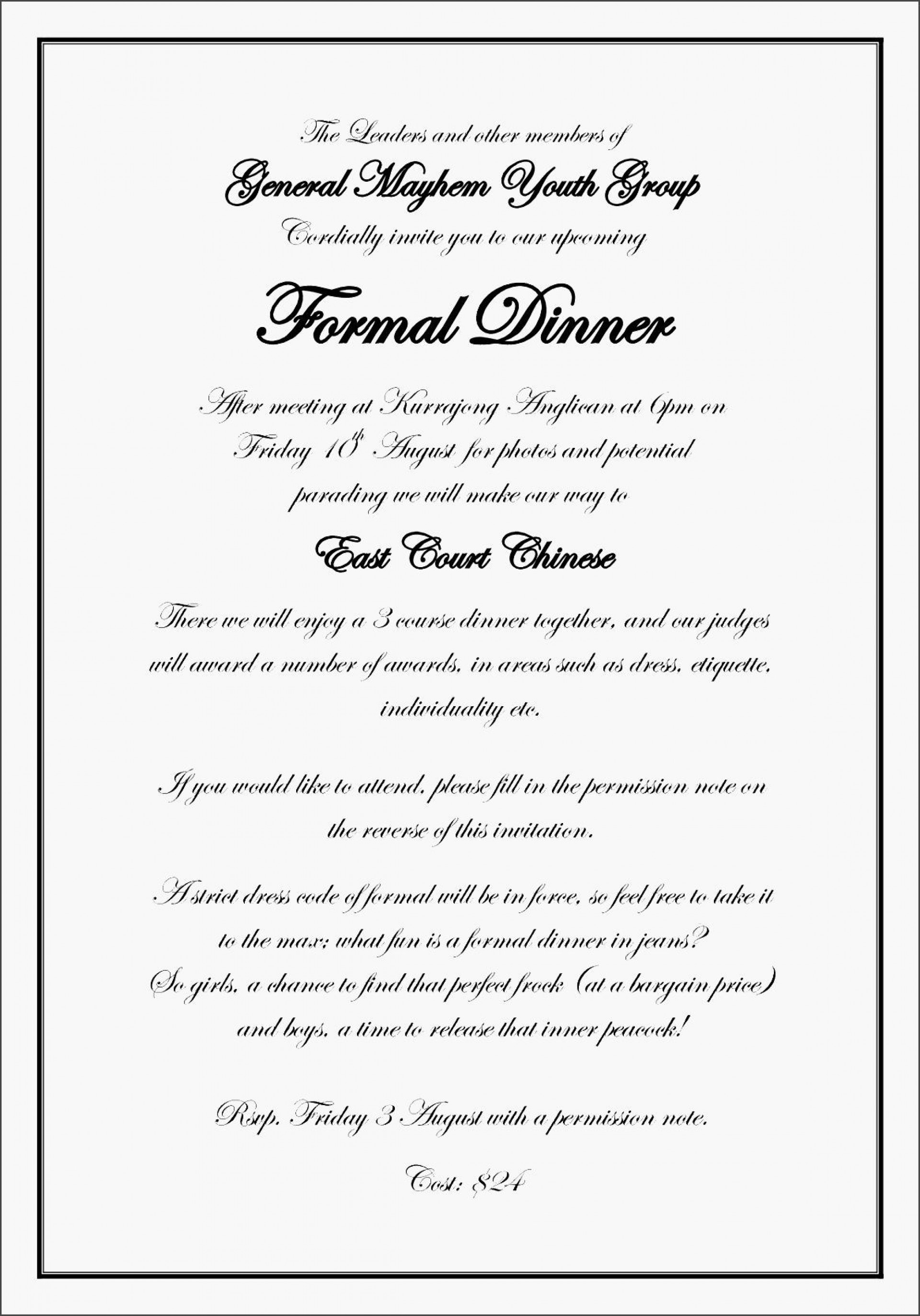 Formal Wedding Invitation Templates ~ Addictionary