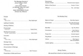009 Rare Free Editable Church Program Template Picture