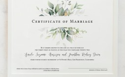 009 Rare Free Marriage Certificate Template High Def  Renewal Translation From Spanish To English Wedding Download