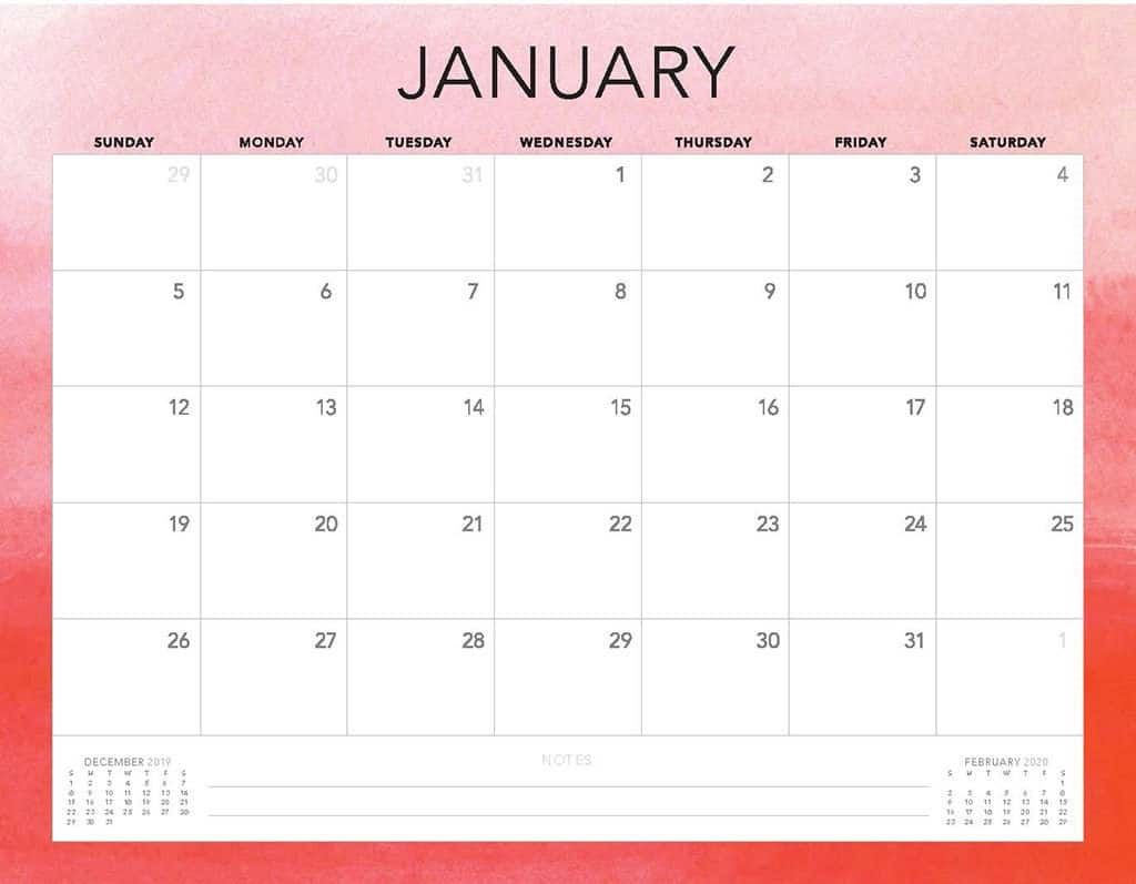 009 Rare Free Printable 2020 Monthly Calendar Template Sample  Templates Home Word 3 MonthFull
