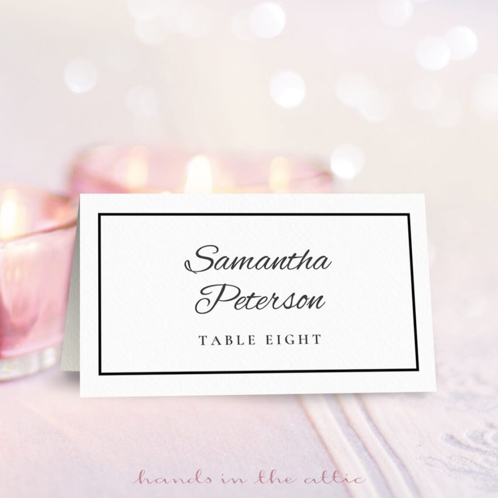 009 Rare Free Printable Place Card Template Image  Blank Wedding Christma TableLarge