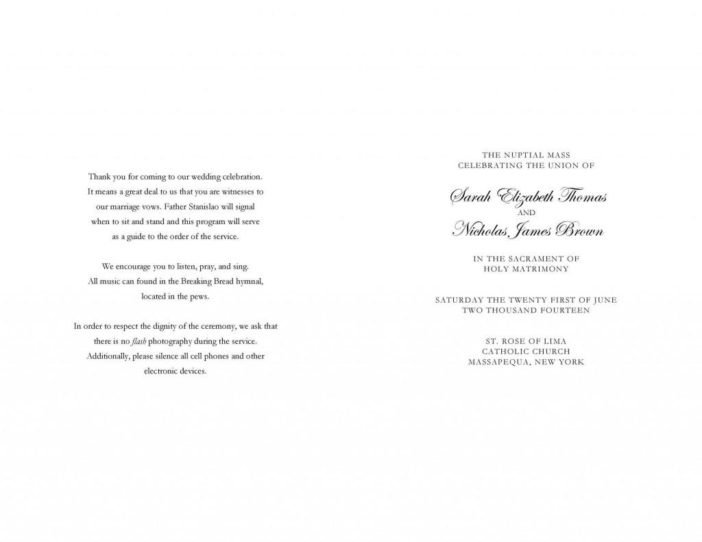009 Rare Free Wedding Order Of Service Template Word Design  MicrosoftLarge