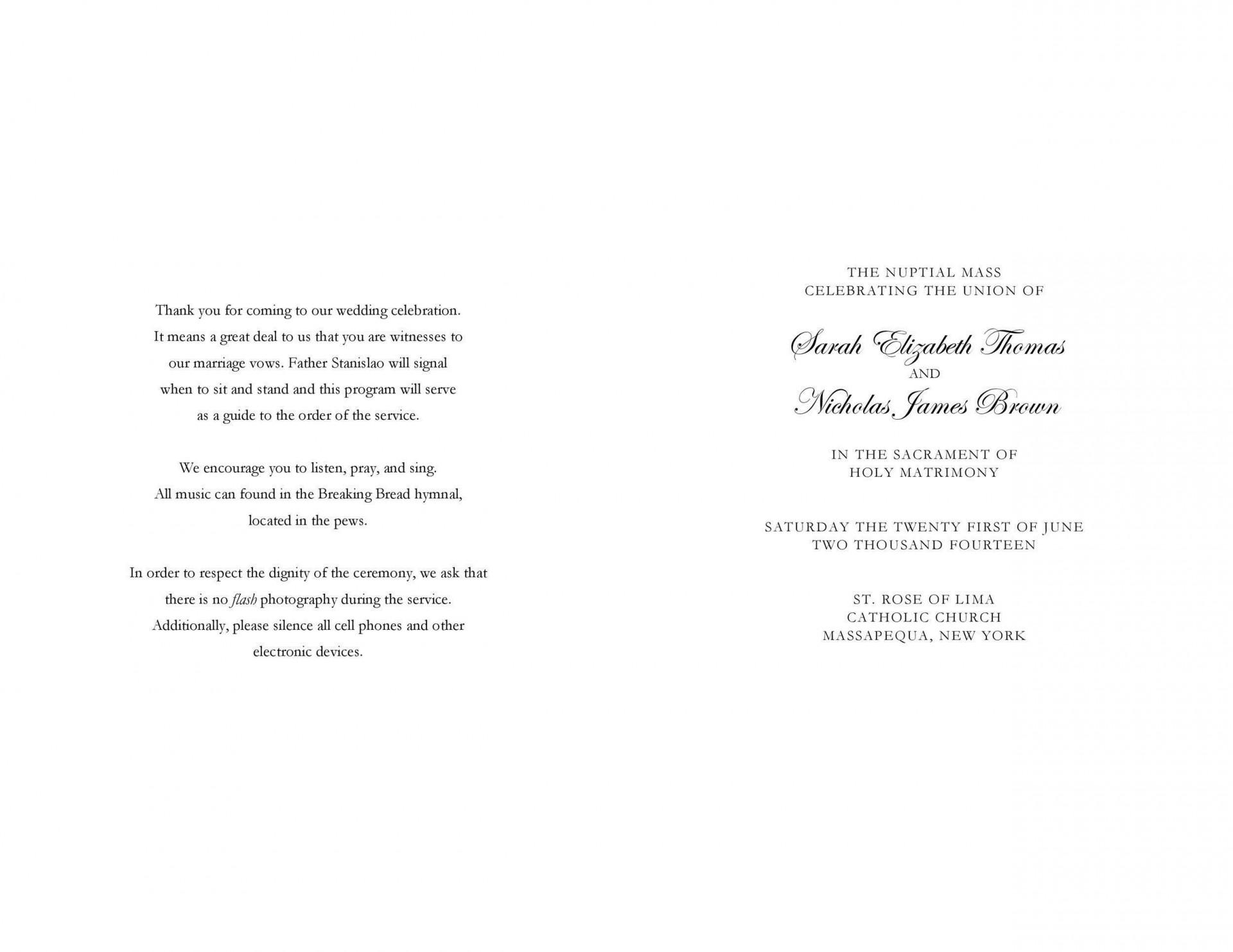 009 Rare Free Wedding Order Of Service Template Word Design  Microsoft1920