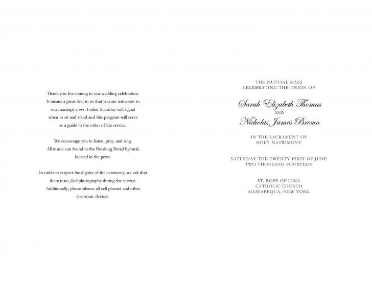 009 Rare Free Wedding Order Of Service Template Word Design  Microsoft728