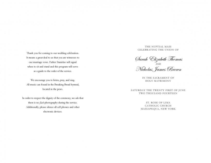 009 Rare Free Wedding Order Of Service Template Word Design  Microsoft868