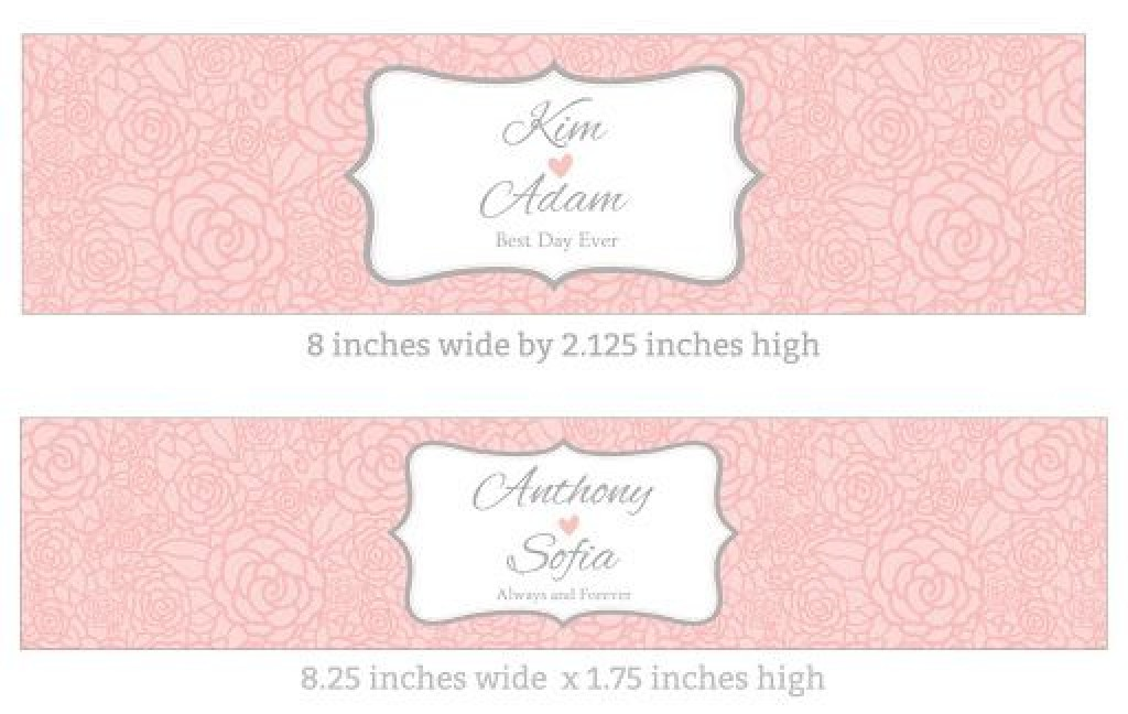 009 Rare Free Wedding Template For Word Water Bottle Label Design  LabelsLarge