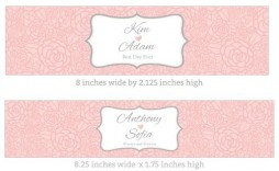 009 Rare Free Wedding Template For Word Water Bottle Label Design  Labels