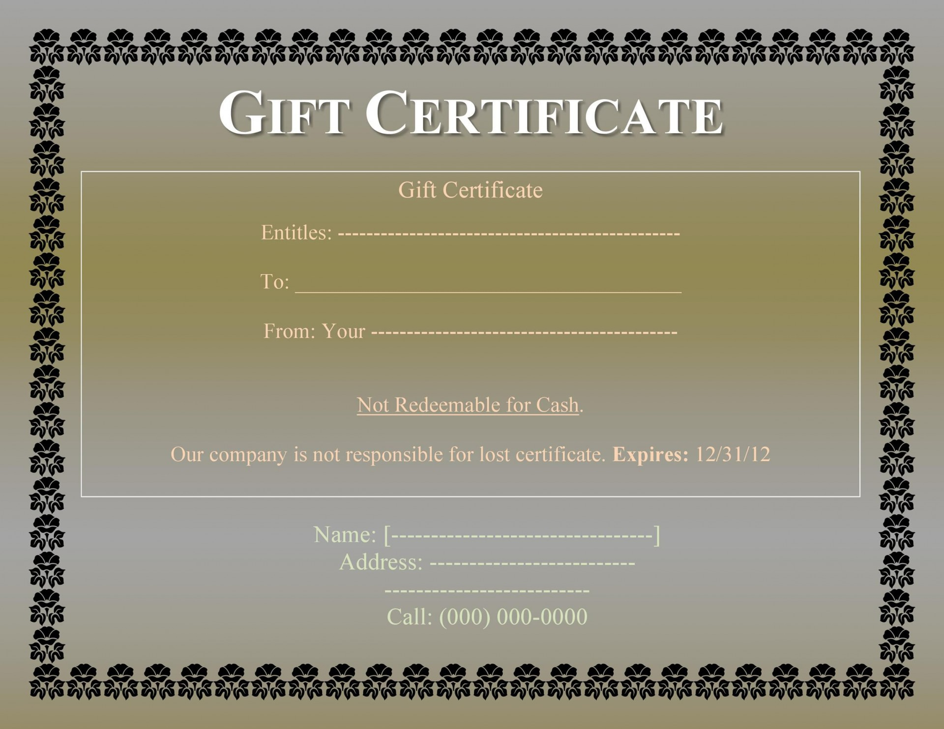 009 Rare Gift Card Template Word Example  Restaurant Free Microsoft1920