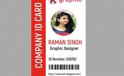 009 Rare Id Badge Template Photoshop High Def  Employee