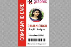 009 Rare Id Badge Template Photoshop High Def  Employee