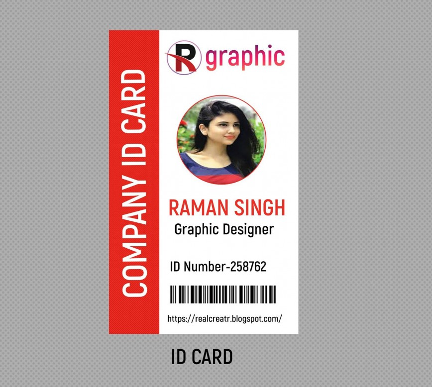 009 Rare Id Badge Template Photoshop High Def  Employee868