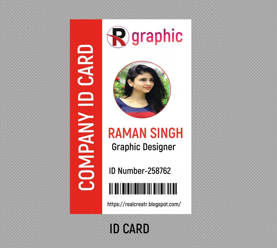 009 Rare Id Badge Template Photoshop High Def  Employee960