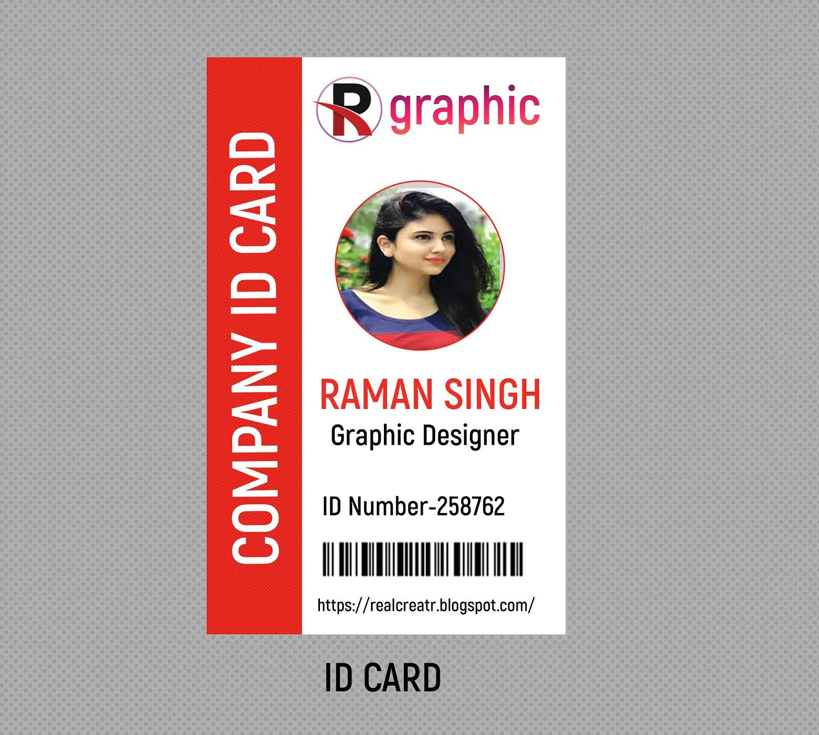 009 Rare Id Badge Template Photoshop High Def  EmployeeFull