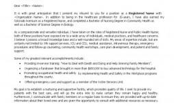 009 Rare Nursing Cover Letter Template Design  New Grad Word School